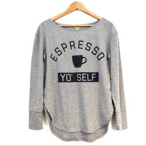 TRUE CRAFT Womens medium gray sweater espresso